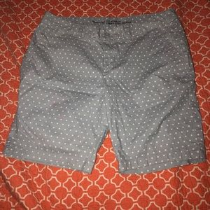 Light Blue Gap Polka Dot Bermuda Shorts